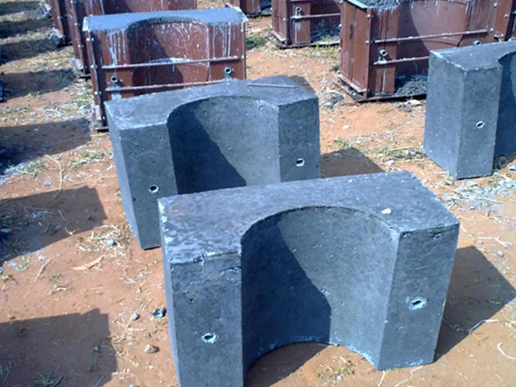 CASTING OF RCC BALLAST BLOCKS